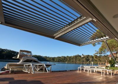 Water front property with Opening Roof structure