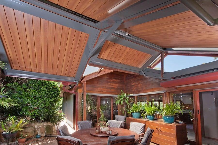 Custom outdoor roof design