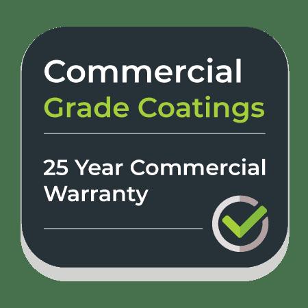 25 year warranty on commercial grade coatings