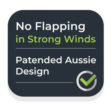 No flapping in strong winds.
