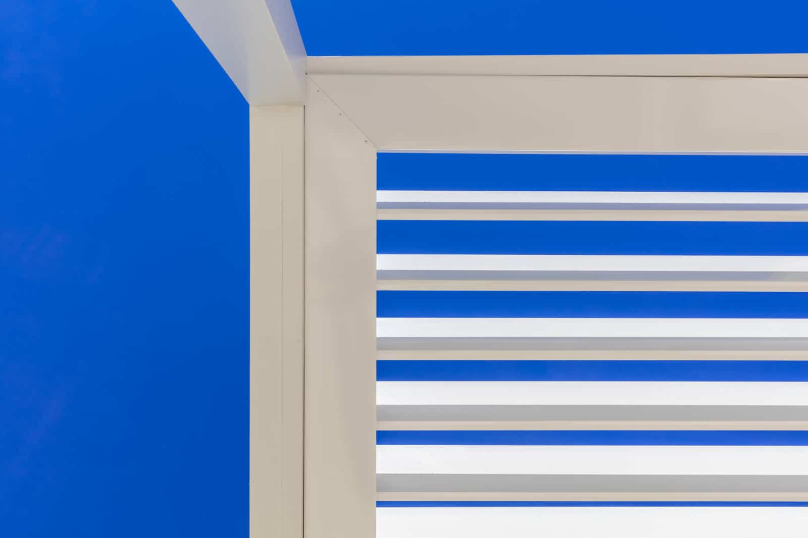 Opening roof louvres